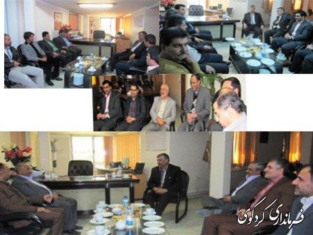 ديدار الياسي با مديران اداري و معتمدين در فرمانداري(گزارش تصويري)