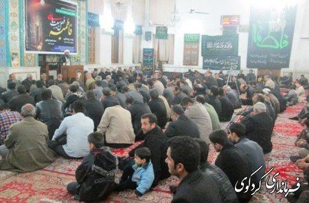 مراسم عزاداري و سوگواري شهادت حضرت فاطمه (س) در مسجد جامع كردكوي برگزار شد