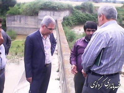 فرماندار کردکوی از پروژه های منابع آبی و آبخیزداری بازدید کرد