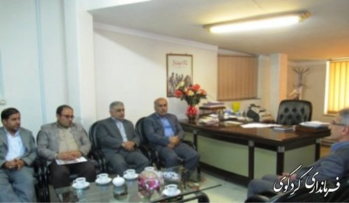 دیدار مدیر ان کل آبفار و آبفا استان با فرماندار کردکوی
