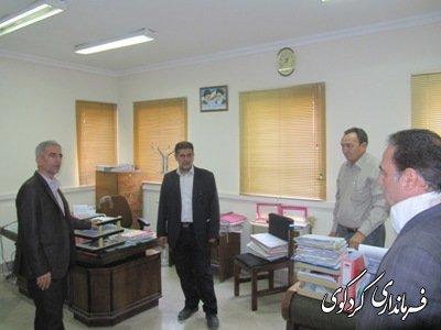فرماندار کردکوی از اداره امور مالیاتی و دارایی کردکوی بازدید کرد/تصویری