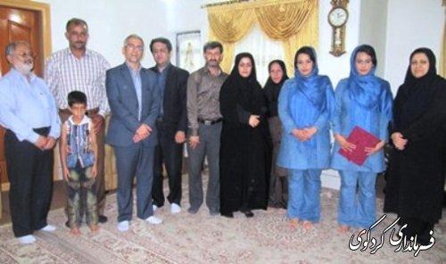دیدارفرماندار با بانوی قهرمان دو و میدانی شهرستان کردکوی