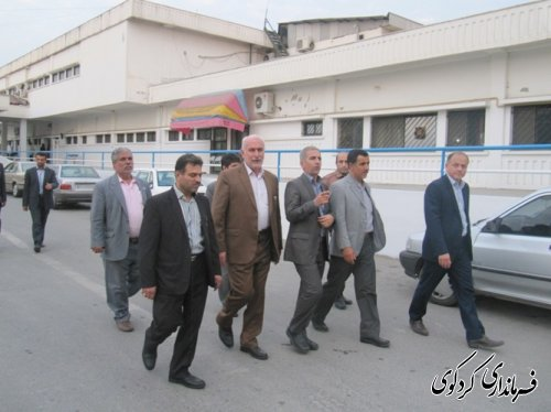 بازدید معاون  استاندار از بیمارستان تخصصصی قلب کردکوی/تصویری