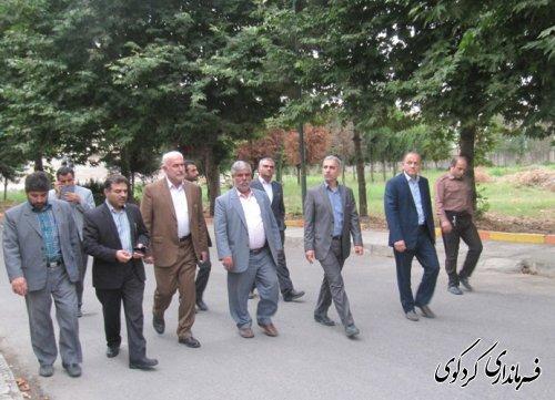 بازدید معاون برنامه ریزی استاندار از شهرستان کردکوی