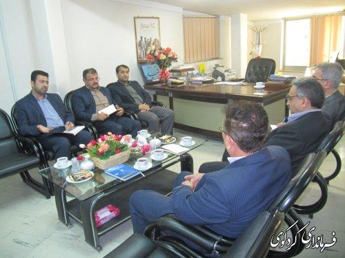 دیدار مدیرکل پست بانک استان با فرماندار کردکوی