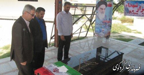 آرامگاه  خبرنگار شهید محمد علی روحانی فرد عطر آگین شد