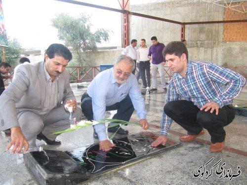 عطرافشانی مزار مطهر شهدای شهر کردکوی/تصویری