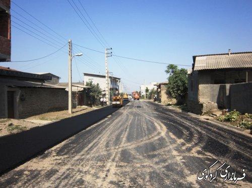 زیر ساختهای توسعه ای بالاجاده شدت گرفت.