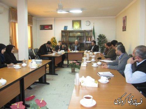 جلسه هماهنگی اعضاء ستاد ویژه استقبال از ریاست محترم جمهور با دهیاران بخش مرکزی کردکوی