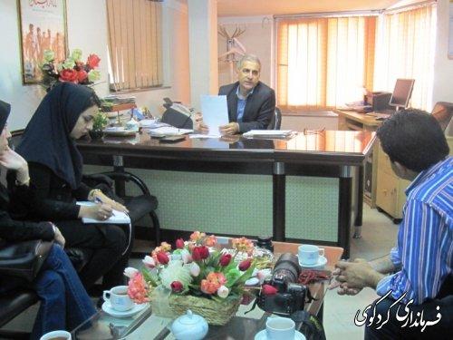 دیدار خبرنگار ان خبرگزاری مهر استان با فرماندار کردکوی