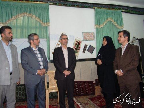 با زدیدمشترک فرماندار کردکوی و مدیرکل  آموزش فنی و حرفه ای از کارگاه آموزش صنایع دستی