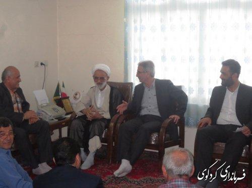دیدار فرماندار بخشدار ،دهیاران و اعضای شورای اسلامی بخش مرکزی با امام جمعه