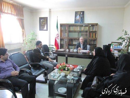 دیدار رییس و کارکنان اداره تعاون و کار و رفاه اجتماعی با فرماندارکردکوی