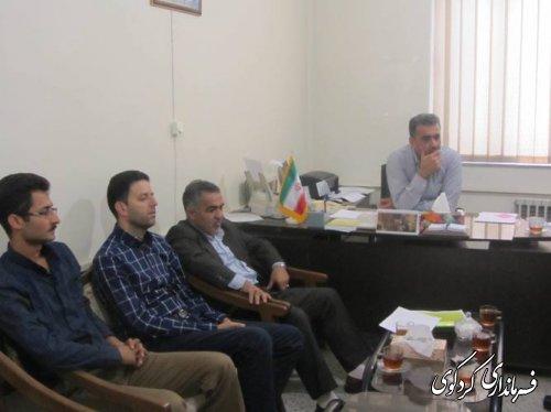 جلسه هم اندیشی چگونگی اجرایی شدن طرح هادی روستایی در شهرستان کردکوی