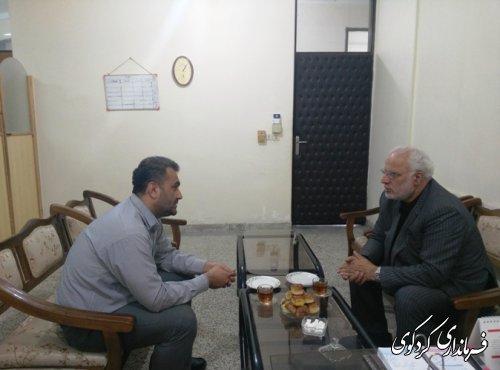 دیدار بخشدار مرکزی کردکوی با مدیرعامل شرکت گاز استان