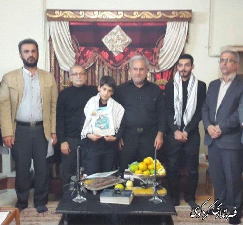 دیدار فرماندار با خانواده های معظم شهید مدافع حرم کردکوی