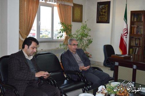 دیدار مدیرکل هلال احمر استان با فرماندار کردکوی
