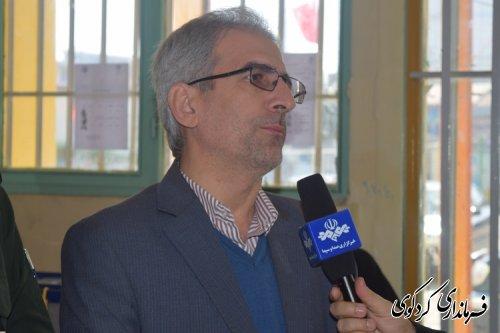 اعلام پایان رای گیری در شعب اخذ رای مرکز انتخابیه غرب گلستان