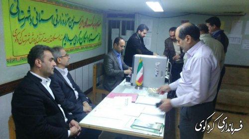 بازدید فرماندار از ستاد اسکان مسافران نوروزی در شهرستان کردکوی