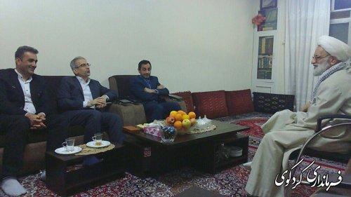دیدار فرماندار با تعدادی از علمای شهرستان کردکوی