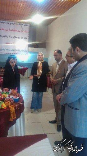 بازدید فرماندار از نمایشگاه صنایع دستی شهرکردکوی