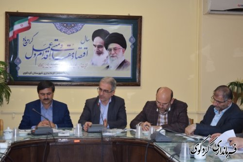 نشست مشترک فرماندارن و شهرداران شهرستانهای غرب استان در کردکوی