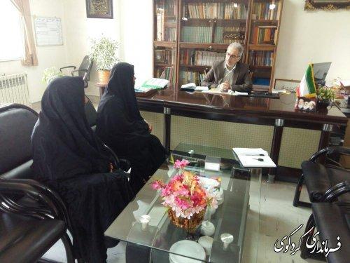 دیدار جمالی فرماندار کردکوی ،در روز ملاقات عمومی با چند تن از شهروندان این شهرستان