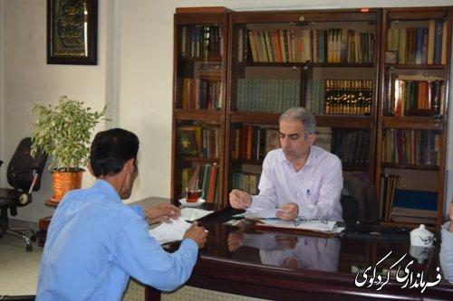 فرماندار کردکوی،در روز ملاقات عمومی با چند تن از شهروندان کردکوی دیدارکرد