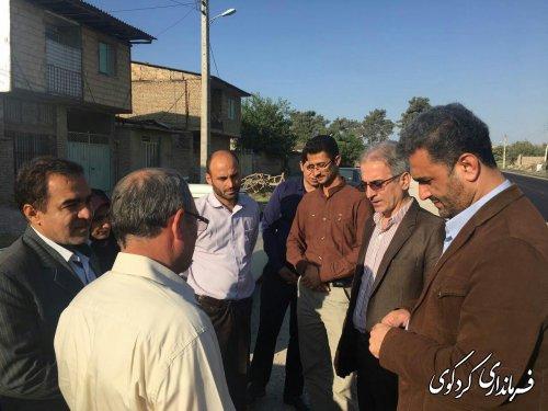 بازدیدجمالی فرماندارکردکوی ازعملیات اجرایی پروژه آسفالت روستای یساقی