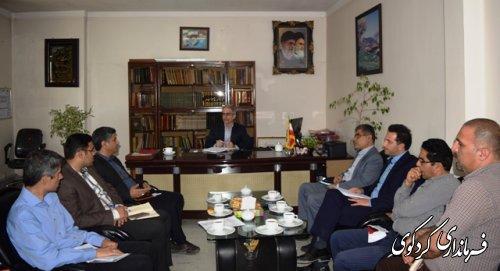مدیرطرح وبرنامه امورآب استان با فرماندار کردکوی دیدارکردند
