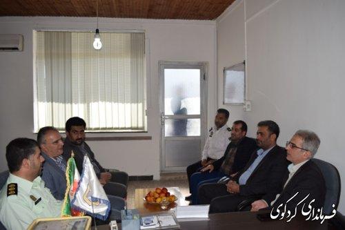 بازدید فرماندار کردکوی از کلانتری و پلیس راهور شهرستان