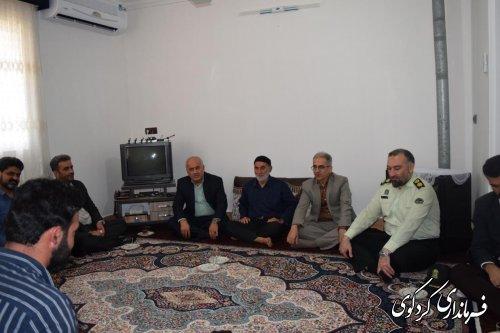 دیدار فرماندار با خانواده شهید و جانباز دفاع مقدس