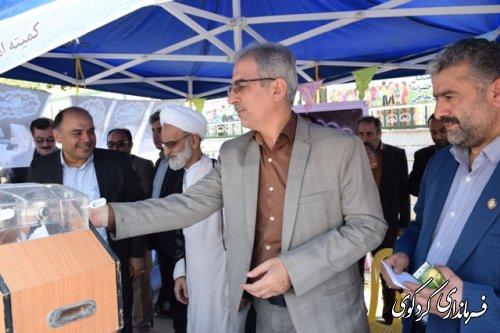 جشن نیکوکاری با حضور فرماندار، امام جمعه،وبخشدارمرکزی و مدیران اداری برگزارشد