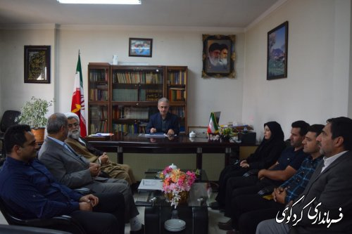 دیدار دهیار و اعضای شورای اسلامی  مهترکلاته با جمالی فرماندار کردکوی