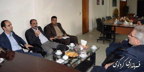 دیدار رییس مرکز اموزش و تحقیقات جهاد کشاورزی استان با جمالی فرماندار کردکوی