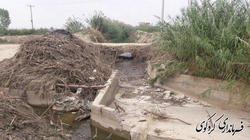 بازدید جمالی فرماندار بهمراه بخشدار و مسئول امور آب کردکوی از روستای مهترکلاته