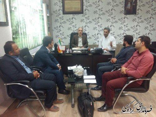 نشست مشترک فرماندار، بخشدار مرکزی, اعضای شورای اسلامی و دهیار روستای نامن