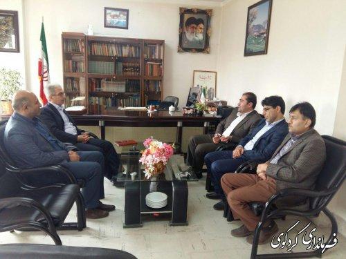 دیدار حسن پور مدیرکل تعزیرات حکومتی استان با جمالی فرماندار کردکوی