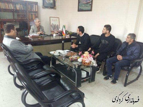 مدیر موسسه فرهنگی_ورزشی شموشک، با فرماندار کردکوی دیدار کرد