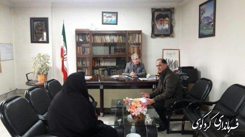 تعدادی از شهروندان با حضور در محل کار جمالی فرماندار کردکوی با وی دیدارکردند