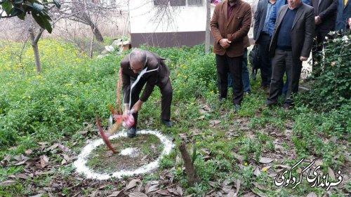 عملیات اجرایی پروژه مرکزجامع خدمات سلامت روستایی یساقی آغاز شد