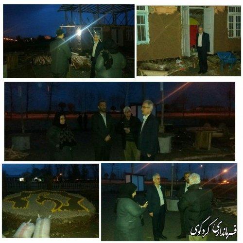 بازدید جمالی فرماندار کردکوی از محل احداث نوروزگاه در کردکوی