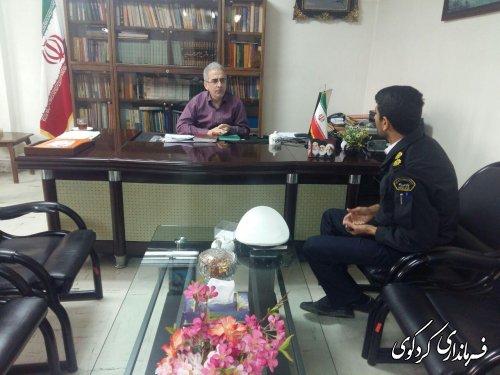 سرهنگ قنبری رئیس پلیس راه نوکنده باجمالی فرماندار دیدار کرد