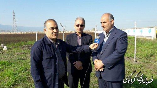 آغازعملیات احداث ایستگاه مکانیزه هواشناسی کردکوی درمحوطه دانشگاه آزاد