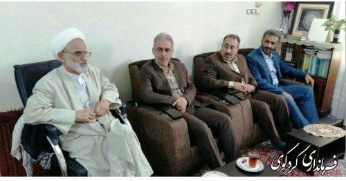 دیدار فرماندار کردکوی با امام جمعه به مناسبت آغاز سال جدید