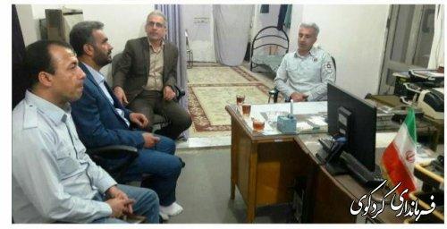 دیدار و بازدید فرماندار از آتش نشانی و ستاد اسکان نوروزی شهرستان کردکوی