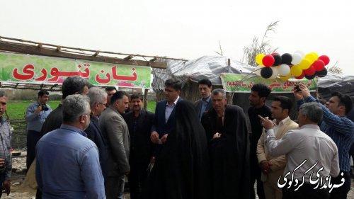بازدید نماینده مردم منطقه به اتفاق فرماندار از دهکده گردشگری کردکوی