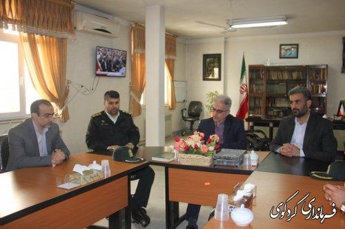 جمالی فرماندارکردکوی دردیدار نوروزی با مجموعه فرماندهی انتظامی شهرستان کردکوی
