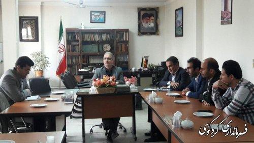 مدیربه اتفاق همکاران با فرماندارکردکوی دیدار کردند