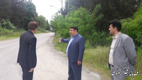 مصوبه شورای ترافیک شهرستان در مسیر پارک جنگلی امامرضاع کردکوی اجرای شد
